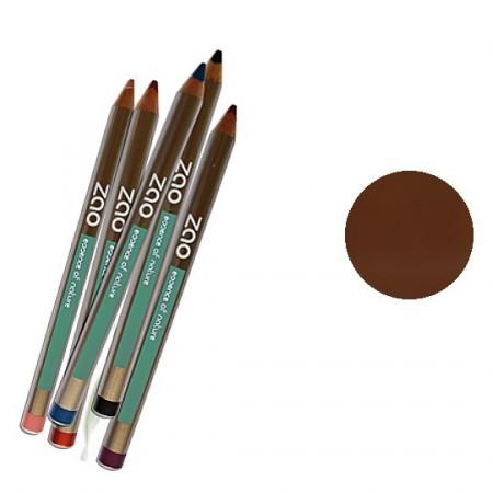 ZAO 602 Brun foncé Crayons lèvres yeux