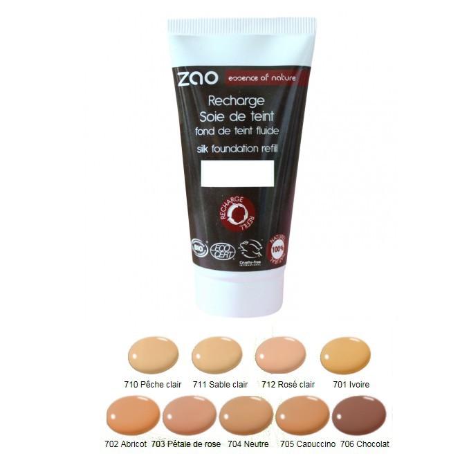 Maquillage bio Zao Make Up  bien être et maquillage professionnel durant la