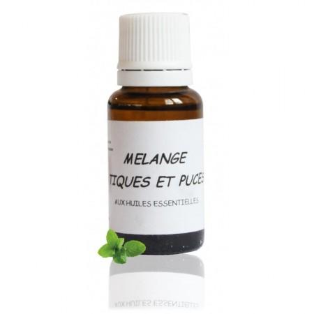 MÉLANGE TIQUES ET PUCES - huiles essentielles biologiques - Abiessence