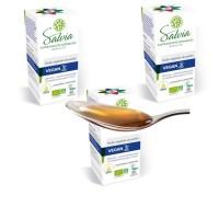 PACK x 3 - Vegan 3 vegan Perilla, Huile vegetale bio flacon- Salvia Nutrition