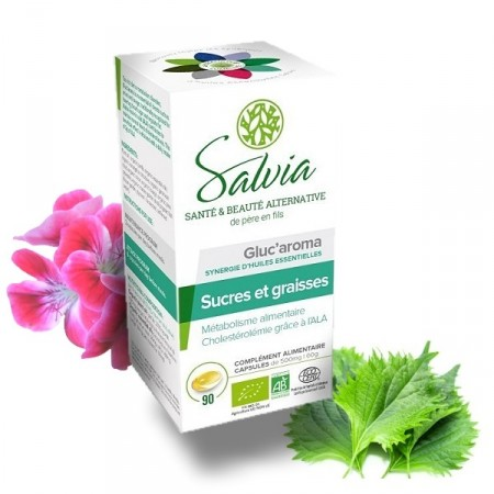 GLUC'AROMA Huiles essentielles bio - 90 capsules - Salvia
