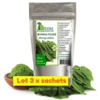 MORINGA - Poudre de feuilles - lot de 3 sachets - moringa oleifera