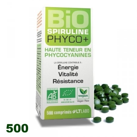 SPIRULINE BIO PHYCO+ 500 comp. LT labo