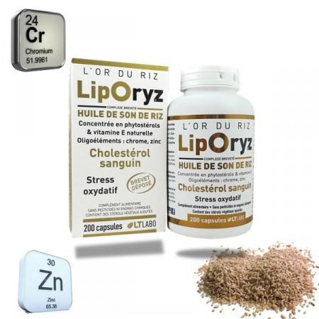 LIPORYZ 200 capsules - LT labo - Huile de son de riz