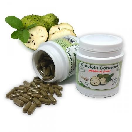 GRAVIOLA CORROSOL Vieillissement des cellules 180 gél. poudre de fruit