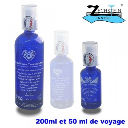 HUILE SÈCHE de magnésium spray - 200ml et 50ml