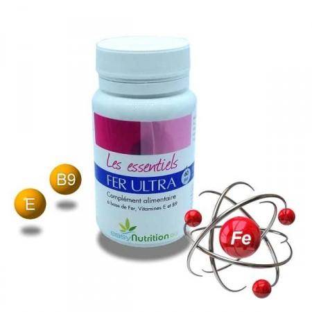 FER ULTRA + Vit E + Vit B9 - prévenir de l'anémie ou anémie sévère - EasyNutrition
