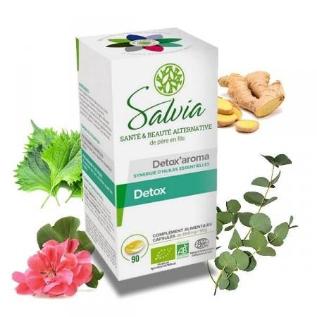 DETOX'AROMA - Salvia 90 capsules Nettoie la sphère hépatique