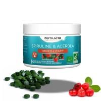 Spiruline et Acérola 300comp. plein d'énergie - Phyto-Actif