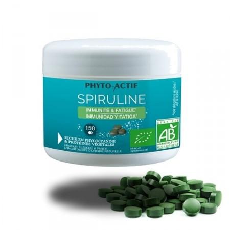 SPIRULINE 150 comp. Renferme des phytovitamines Phyto-Actif