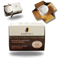 BOUGIE DE MASSAGE - karité-mangue- 100ml - Karethic