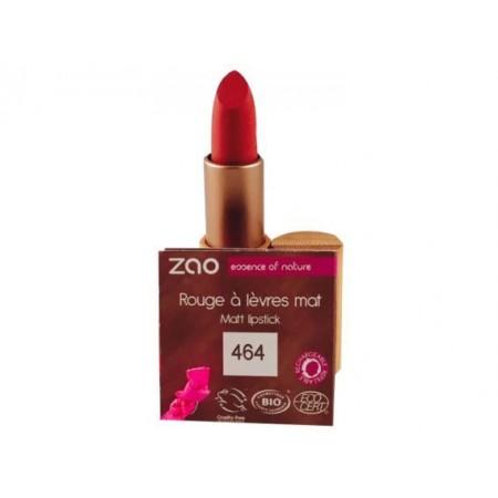 ZAO Rouge à lèvres mat 464 Rouge orangé