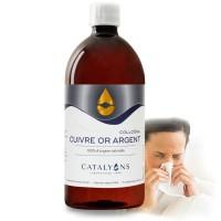 CUIVRE OR ARGENT - 1L - état grippaux - immunité - Catalyons