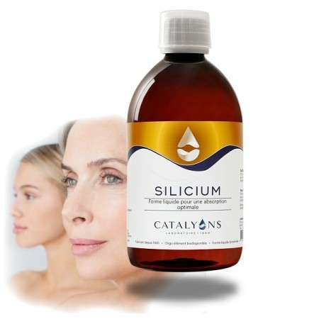 SILICIUM - cheveux, peau, os - 500 ml Catalyons