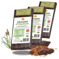 CHOCOLAT au PSYLLIUM 3 x 100g. - Ispaghul - Digestion intestin - Nature et Partage