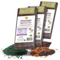 CHOCOLAT à la SPIRULINE 3 x 100g. Digestion intestin - Nature et Partage