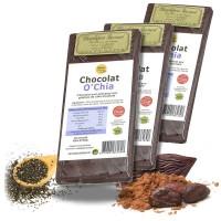 CHOCOLAT aux graines de CHIA 3 x 100g - Energie - Nature et Partage