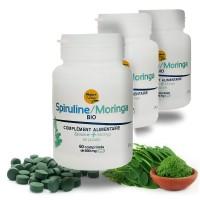 SPIRULINE MORINGA Bio Système immunitaire - 3 x 60 comp Nature et Partage