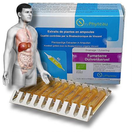 FUMETERRE - OxyPhyteau - Toxine et migraines - Boîte de 40 amp.