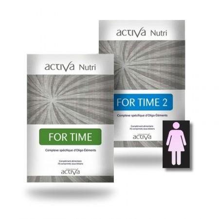 FOR TIME 1 et 2 Pack Nutri - Femme- Activa