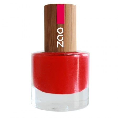 ZAO Rouge Carmin 650 VERNIS A ONGLES NATUREL