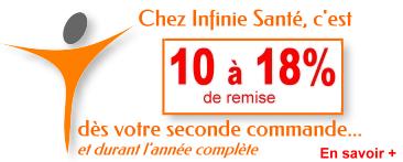 -10%  à -18 % chez Infinie Santé dès votre prochaine commande
