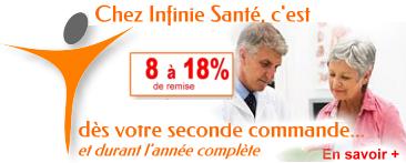 -8% à -18 % chez Infinie Santé dès votre prochaine commande