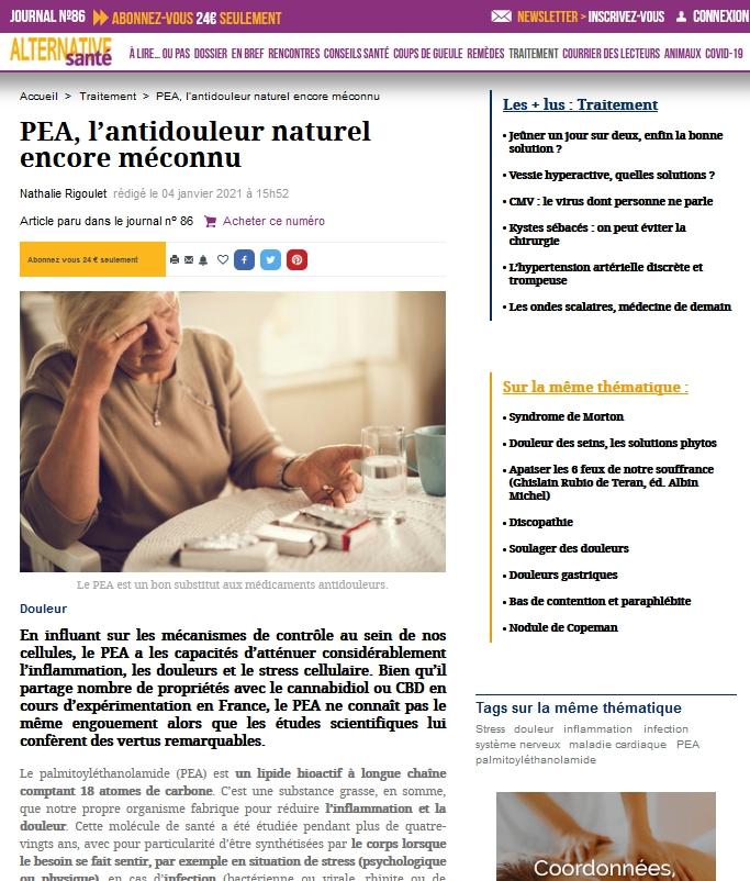 alternative santé PEA